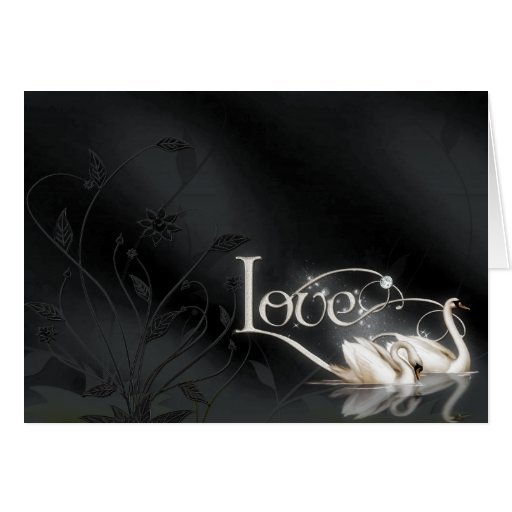Love Swans Wedding Stationery Note Card