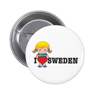 Love Sweden Buttons