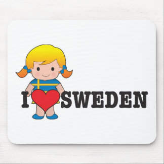 Love Sweden Mouse Pad