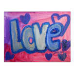 Love Sweet Candy Art Painting Postcard