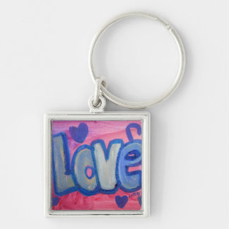 Love Sweet Candy Art Word Painting Keychain