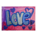Love Sweet Candy Painting Art Poster Print