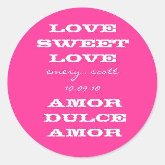 Love Sweet Love, emery . scott 10.09.10, Amor D... Classic Round Sticker