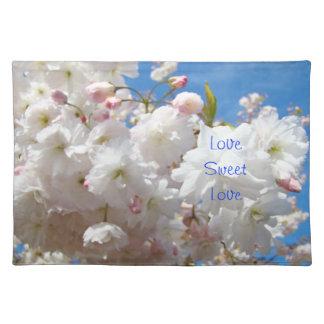 Love Sweet Love place mats Wedding Blossoms Flower