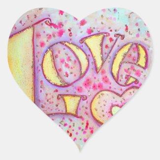 Love Sweet Pink Sticker