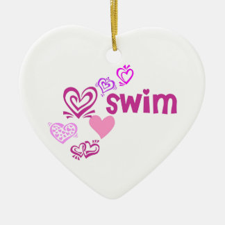Love Swim Ceramic Ornament