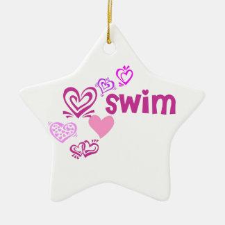 Love Swim Ceramic Ornament