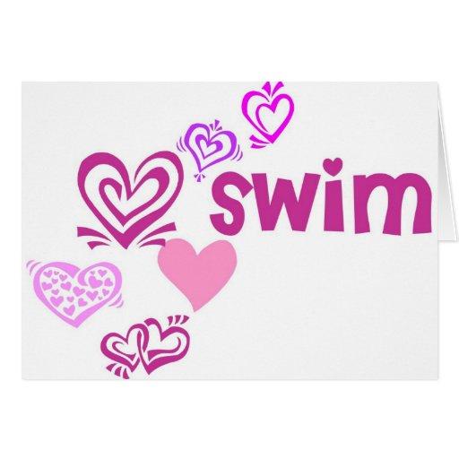 Love Swim Greeting Cards