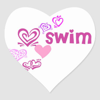 Love Swim Heart Sticker