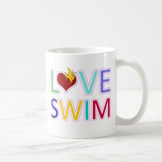 LOVE SWIM COFFEE MUGS