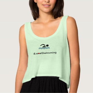 Love Swimming pictogram swimmer Tank Top