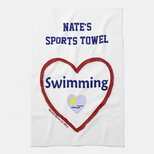 Love Swimming - Sports Towel (Personalize)