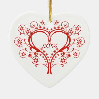 Love Swirl Heart Valentine's Day custom ornament