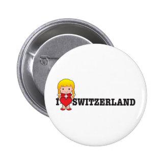 Love Switzerland Buttons
