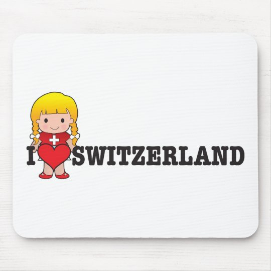Love Switzerland Mouse Pad