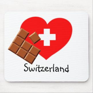 Love Switzerland - Swiss heart mousepad