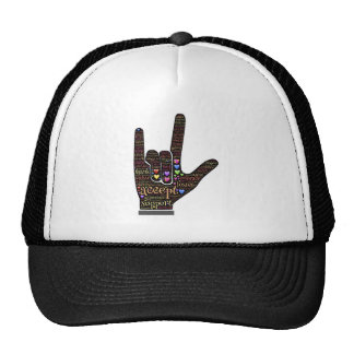 love symbol trucker hat