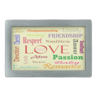 Love Synonyms by Shirley Taylor Rectangular Belt Buckle