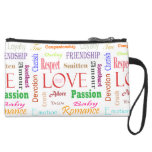 Love Synonyms by Shirley Taylor Suede Wristlet