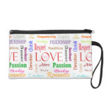 Love Synonyms by Shirley Taylor Wristlet