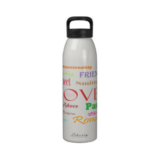 Love Synonyms Drinking Bottle