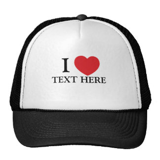 love t editable trucker hats