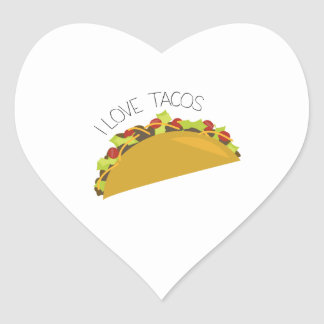 Love Tacos Heart Sticker