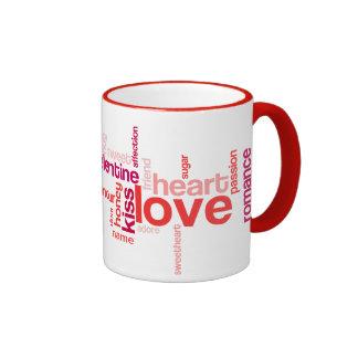Love Tag Cloud w/ Custom Name Mug