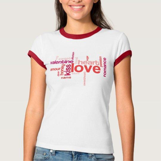 Love Tag Cloud w/ Custom Name Shirt