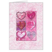 love, cute, romance, hearts, feelings, passion, romantic, Card with custom graphic design