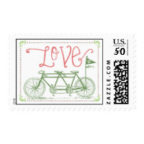 Love Tandem Bike Postage Stamp
