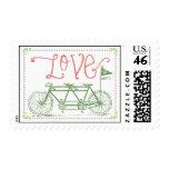 Love Tandem Bike Postage Stamp