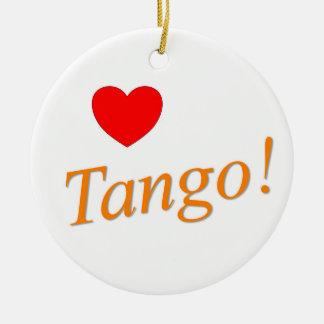 Love Tango! Ceramic Ornament