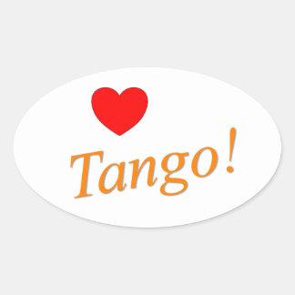 Love Tango! Oval Sticker