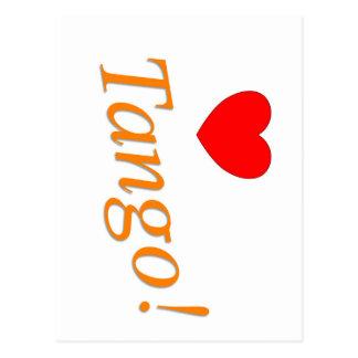 Love Tango! Postcard