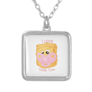 Love Tater Tots Square Pendant Necklace