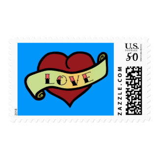 Love Tattoo Heart Postage