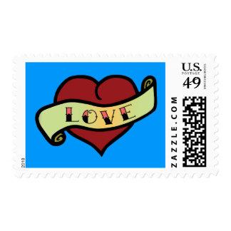 Love Tattoo Heart Stamp