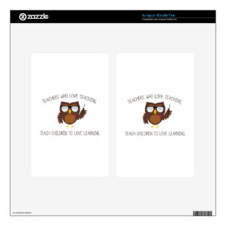 Love Teaching Decals For Kindle Fire