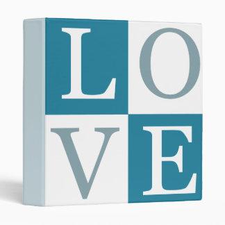 Love (teal) Binder