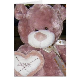 LOVE TEDDY BABY ADOPTION CONGRATS CARD