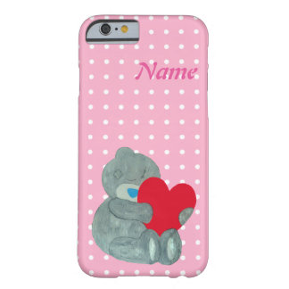 Love teddy bear and white polka dots barely there iPhone 6 case