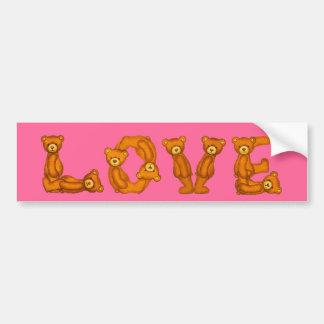 Love~Teddy Bear Letter Alphabet~Customize~Sticker Bumper Sticker