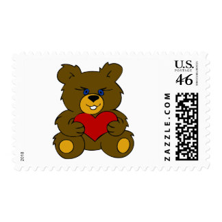 LOVE TEDDY BEAR POSTAGE STAMPS