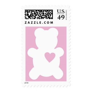 Love Teddy Postage - Baby Pink