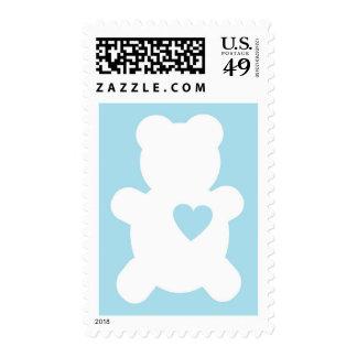 Love Teddy Postage Stamp - Powder Blue