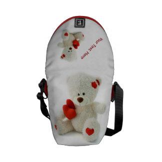 Love Teddy Valentine custom messenger bag (mini)