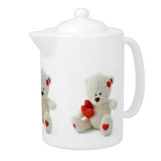 Love Teddy Valentine custom teapot