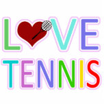 LOVE TENNIS ACRYLIC CUT OUTS