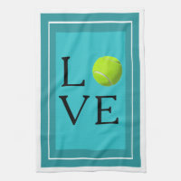 Love Tennis Ball Kitchen Towel